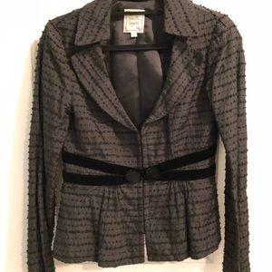 Nanette Lepore swissdot black jacket w velvet